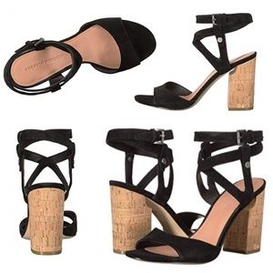 {Sigerson Morrison} Black Suede Block Heel Sandals
